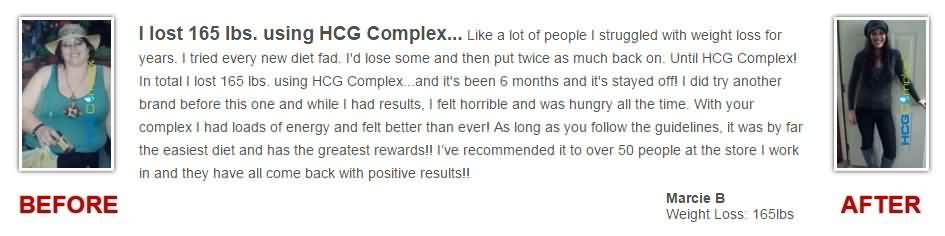 HCG complex testimonials