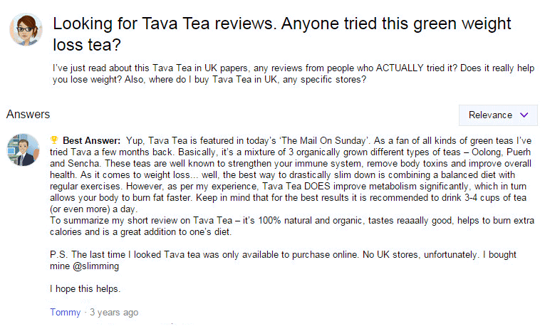 Tava Tea Customer Reviews