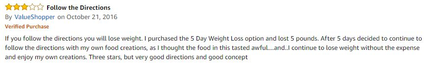 Nutrisystem Negative Review 1