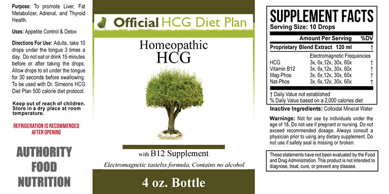 Ingredients of Official HCG Diet Plan
