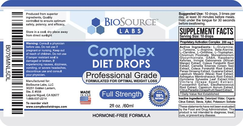 HCG Complex Ingredients